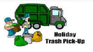 Cartoon showing a garbage truck