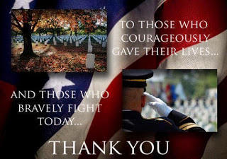 Thank you to those who courageously gave their lives, and those who bravely fight today